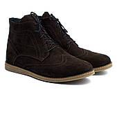 Ботинки броги зимние дышащие замшевые коричневые мужские Rosso Avangard Breathable Brogue Brown