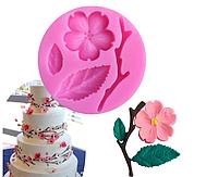 Силиконовая форма молд в форме персикового цветка, силиконовые формы для тортаСиликоновая форма молд в форме п