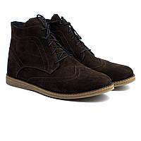 Ботинки броги зимние дышащие замшевые мужская обувь больших размеров Rosso Avangard Breathable Brogue Brown BS