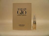 Giorgio Armani - Acqua Di Gio Absolu (2018) - Парфюмированная вода 1,2 мл (пробник)