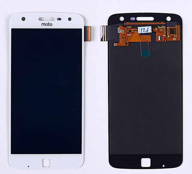 Дисплей (LCD) Motorola XT1635 Moto Z Play OLED с тачскрином, белый