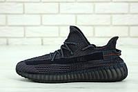 Кроссовки Adidas Yeezy Boost 350 мужские, черные, в стиле Адидас ИзиБуст, текстиль, код KD-11918