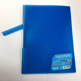 Папка с поворотным прижимом Axent А4 1411-12-A Sapphire синяя