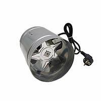 Канальный вентилятор осевой круглый 100 мм металлический VKAM 100