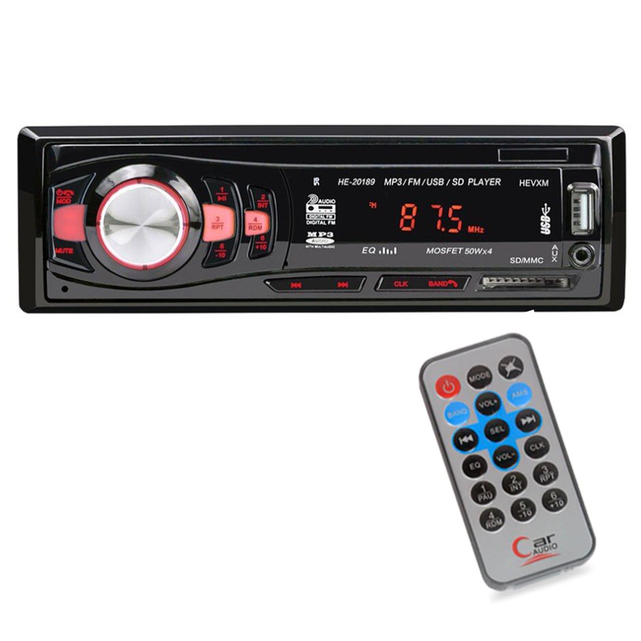 ✾Многофункциональная 1DIN магнитола HEVXM HE 20189 автомобильная мощность 50х4 SD card MP3/FM/USB пульт ДУ