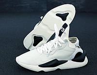 Кроссовки Adidas Y-3 Kaiwa мужские, белые, в стиле Адидас, натуральная кожа, прошиты, код KD-11949.