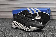 Кроссовки Adidas Yeezy Boost 700 мужские, черные, в стиле Адидас Изи Буст 700, замшевые, прошиты, код TD-8910.