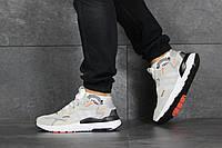 Кроссовки Adidas Nite Jogger Boost мужские, бежевые, в стиле Адидас Найт Джоггер, замша, сетка, код SD-8420