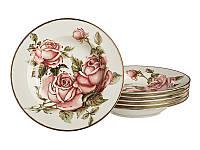 Набор тарелок Lefard Корейская роза 6 предм. 215-063