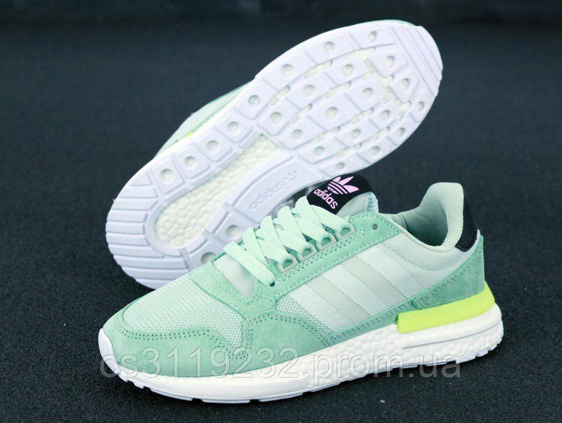 Женские кроссовки Adidas ZX 500 Mint (зеленые)