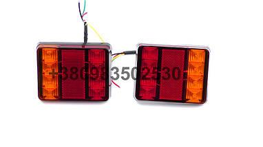 Світлодіодні LED стопи ліхтарі на вантажівку задні стопи на причіп універсальні, фото 3