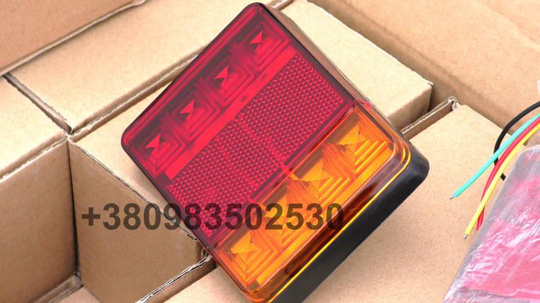 Світлодіодні LED стопи ліхтарі на вантажівку задні стопи на причіп універсальні, фото 2