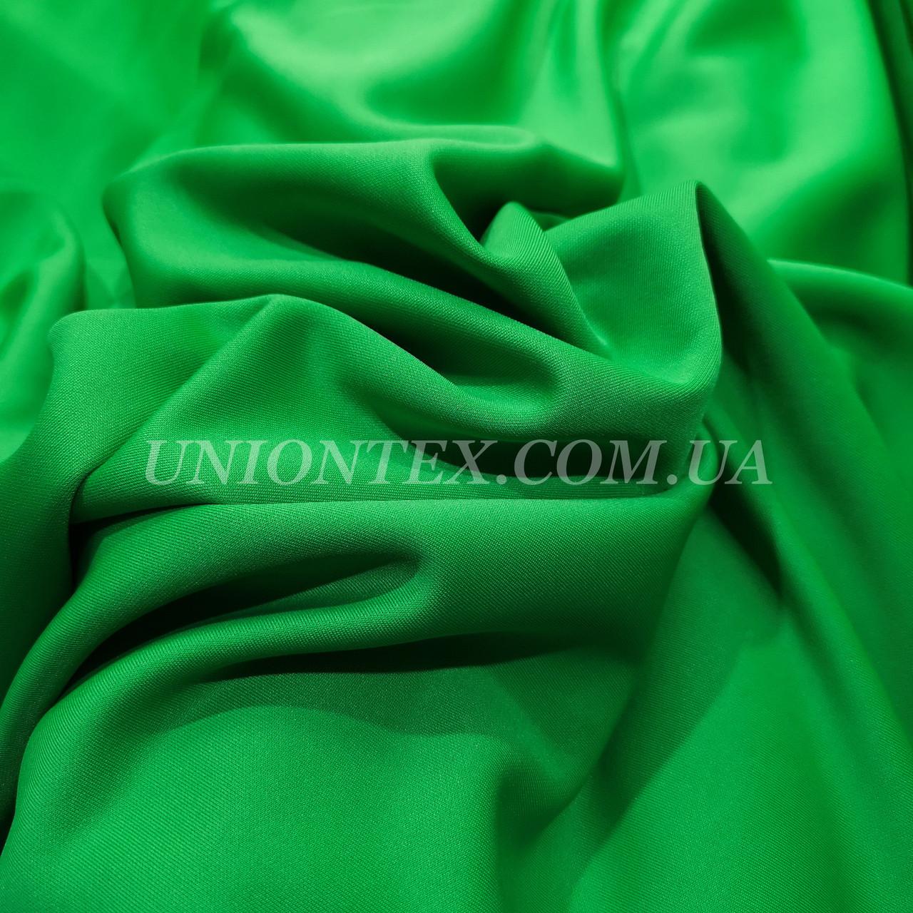 Трикотаж дайвинг зеленый
