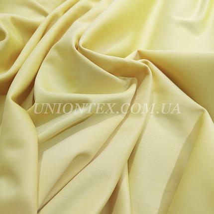 Трикотаж дайвинг бледно-желтый, фото 2