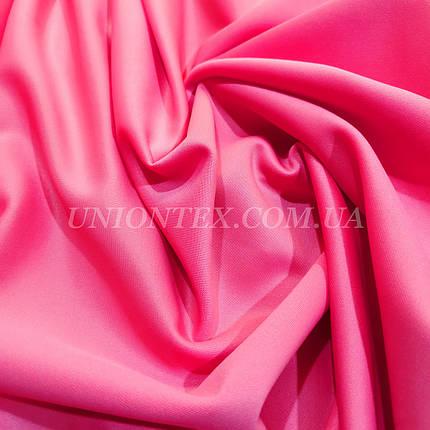 Трикотаж дайвинг розовый неон, фото 2