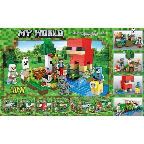 Конструктор  Minecraft 63011 Майнкрафт от 73 деталей (8 видов)