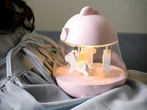Музичний нічник-карусель NZY Cute Chick Egg & Chicken F10 Рожевий (128718), фото 2