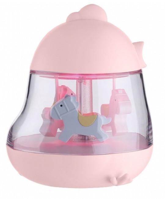 Музичний нічник-карусель NZY Cute Chick Egg & Chicken F10 Рожевий (128718)