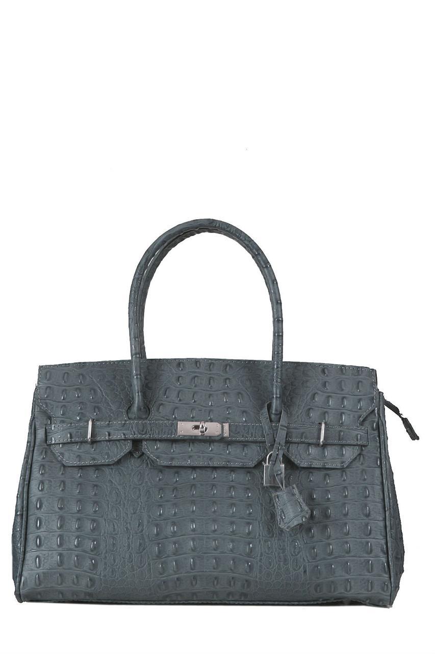 Женская кожаная сумка GLORIA Diva's Bag цвет темно-серый