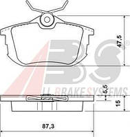 Колодки тормозные MITSUBISHI/VOLVO CARISMA/S40/V40 задние (ABS). 36950