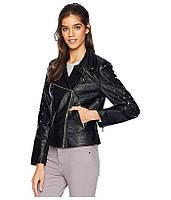 Новая черная куртка косуха из качественного кожзама members only usa