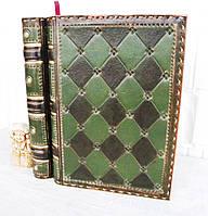 Обложка кожаная блокнота ежедневника винтажного ручной работы оригинальный подарок
