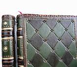 Обложка кожаная блокнота ежедневника винтажного ручной работы оригинальный подарок, фото 9