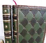 Обложка кожаная блокнота ежедневника винтажного ручной работы оригинальный подарок, фото 3
