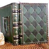 Обложка кожаная блокнота ежедневника винтажного ручной работы оригинальный подарок, фото 7