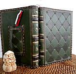 Обложка кожаная блокнота ежедневника винтажного ручной работы оригинальный подарок, фото 4