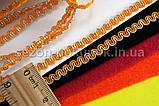 """(20 метров) Тесьма """"Змейка"""" с люрексом (ширина 5мм) Цвет-Оранжевый (сп7нг-2170), фото 2"""