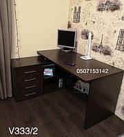 Письменный стол с тумбой, компьютерный стол. стол для школьника. Модель V333/2 венге магия