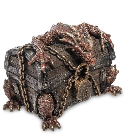 """Шкатулка Veronese """"Дракон на сундуке"""" 14 см 1904286"""