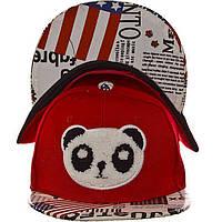 Детская кепка с прямым козырьком RD16056 красный