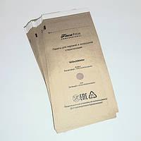 Крафт пакеты коричневые для паровой и воздушной стерилизации , 100х200 мм, 10 шт