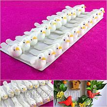 (24шт) Птички декоративные 35х13мм Цена за 24 шт Цвет - Белый (сп7нг-2882)