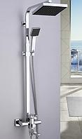 Душевая стойка со смесителем (колонна) КВАДРАТ для ванной, душ-кабины