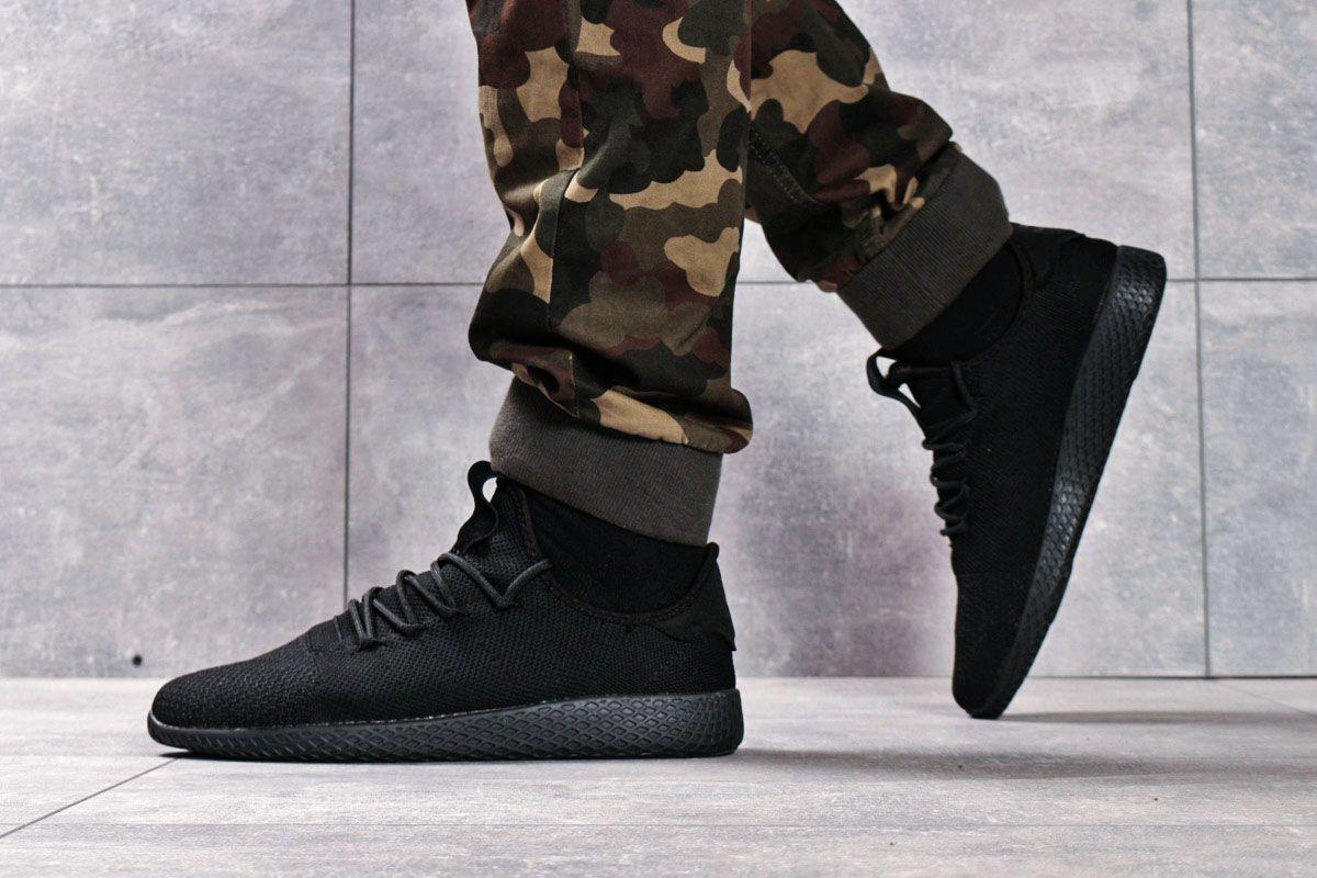 Кроссовки мужские 16241, Adidas Pharrell Williams, черные, < 44 45 > р. 44-28,5см.
