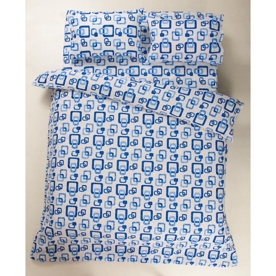 Постельное белье Lotus Ranforce - Delta синий двуспальное