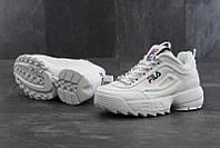 Кроссовки Fila Disruptor 2 мужские, белые, в стиле Фила Дизраптор, материал - кожа, подошва - пена, код  KD-11389.