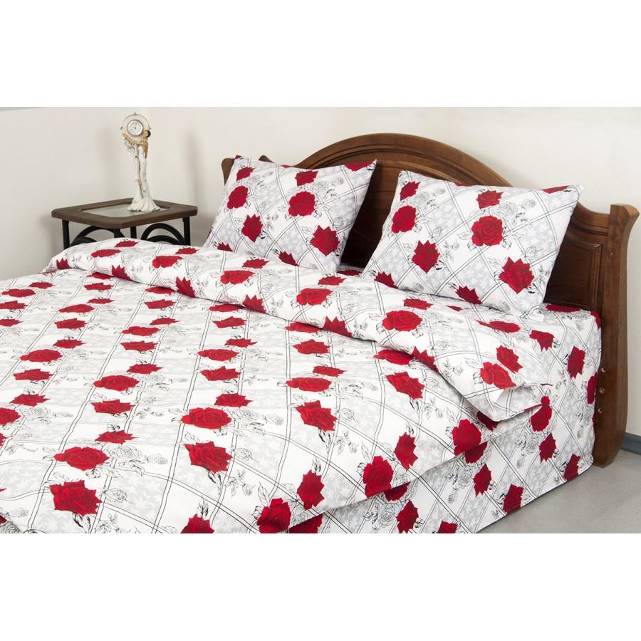 Постельное белье Lotus Ranforce - Carmen V1 красный семейное