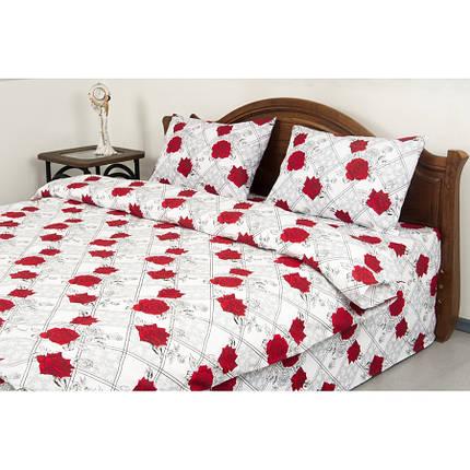 Постельное белье Lotus Ranforce - Carmen V1 красный семейное, фото 2