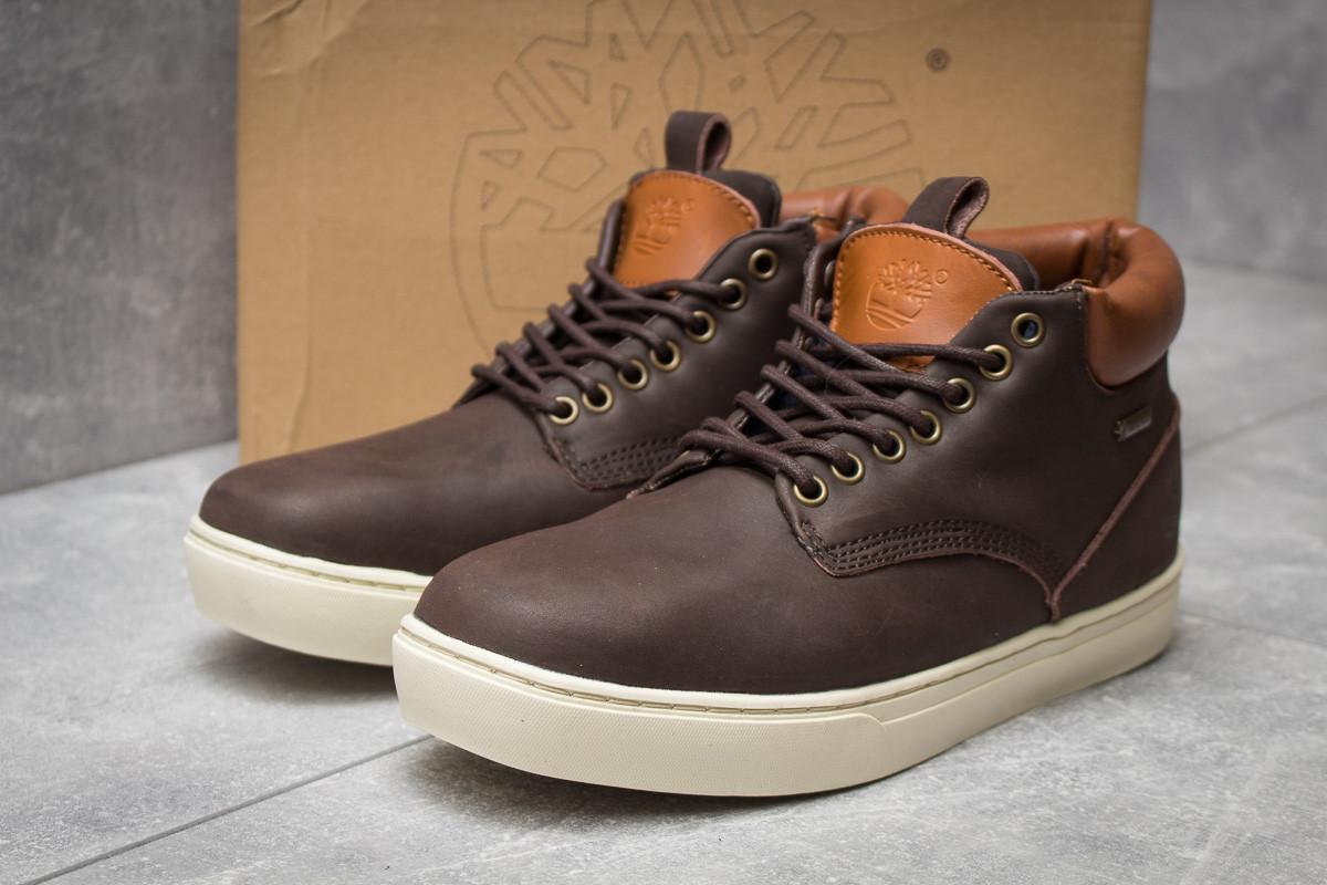 Зимние мужские ботинки 30113, Timberland Groveton, коричневые, < 46 > р. 46-29,0см.