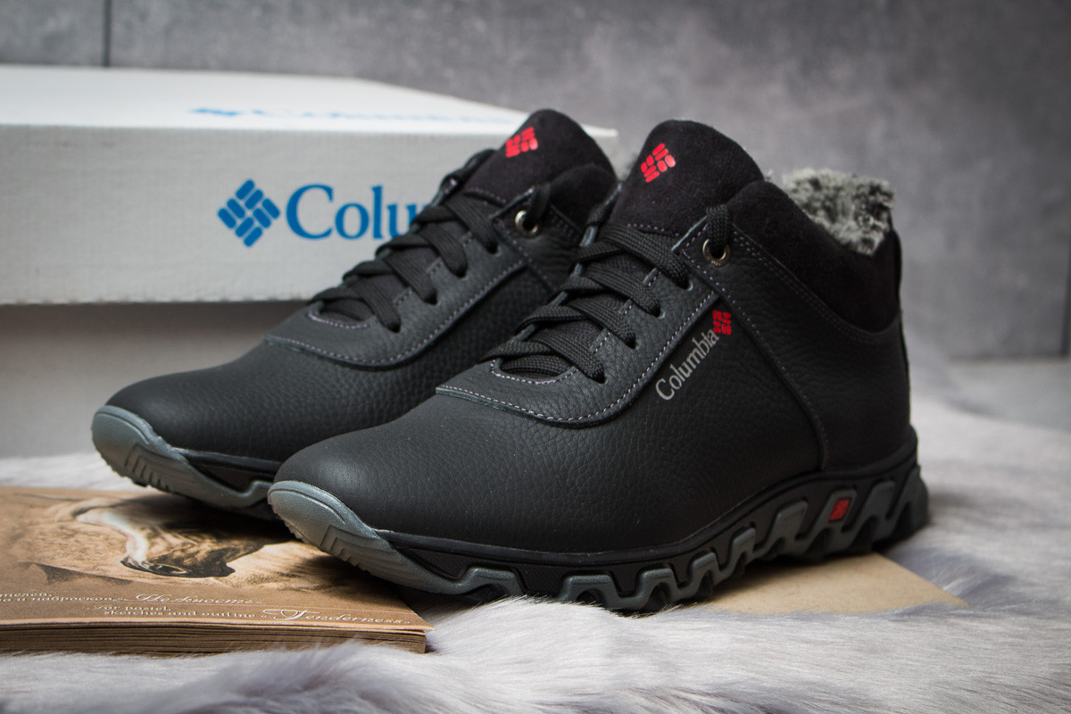 Зимние мужские ботинки 30693, Columbia Track II, черные, < 40 42 > р.40-26,6