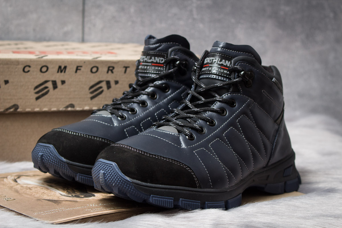 Зимние мужские ботинки 30812, Northland Waterproof, темно-синие, < 42 43 > р.42-27,8