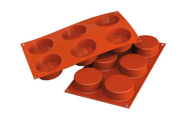 "Форма для десерта ""Cylinders"" 40х30х2.7см/621мл силиконовая Silikomart"