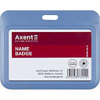 Бейдж-слайдер горизонтальный Axent 4500H-02-A, дымчатый синий