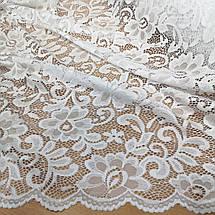 Ткань гипюр набивной белый, фото 2