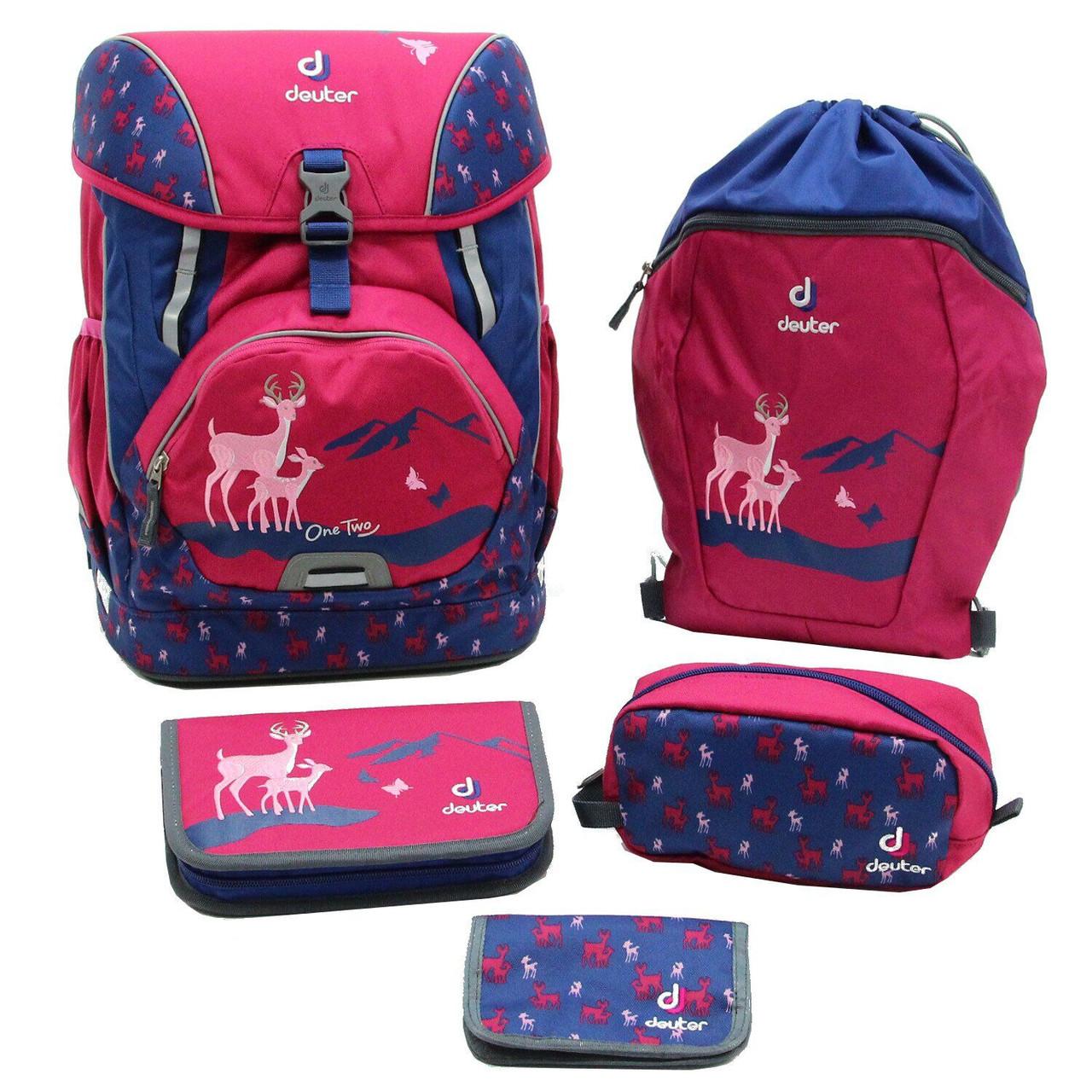 Ранец с набором школьных принадлежностей Deuter OneTwo Set-Sneaker Bag magenta deer (3880017 5018)