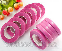 (12 бобин) Лента флористическая, тейп-лента 30 метров. Цвет - Розовый (сп7нг-3210)